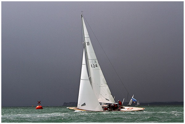 30 Sq Metre ' Glukahuf' racing in the Solent